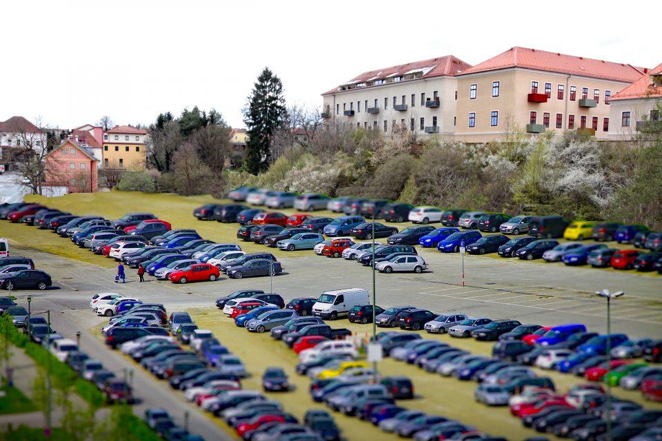 Fotomontage zum geplanten Parkplatz
